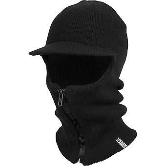 Urban classics - zippade BALACLAVA visor svart