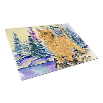 Carolines Treasures  SS8011LCB Norwich Terrier Glass Cutting Board Large