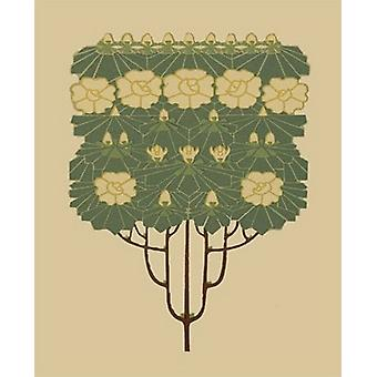 Arts and Crafts Tree IV Poster Print by Vision studio (13 x 19)