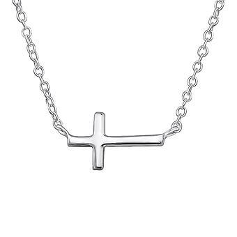 Cross - 925 Sterling Zilver Plain kettingen - W30227X