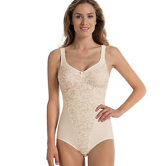 Anita Comfort 3561-709 Women's Ancona Ivory Off White Floral Non-Wired Firm Control Slimming Shaping Corselette