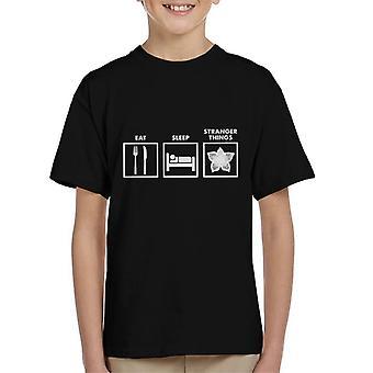 Eat Sleep Stranger Things Graphics Kid's T-Shirt