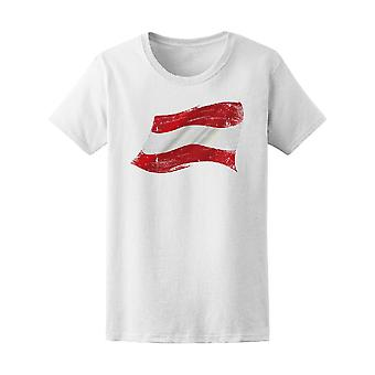 Flag Of  Austria In The Wind Tee Women's -Image by Shutterstock