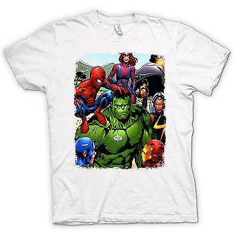 T-shirt - Hulk Spiderman Homem de Ferro
