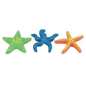 Classic Coral Life Starfish Aquarium Ornament Assortment 95mm (Pack of 6)