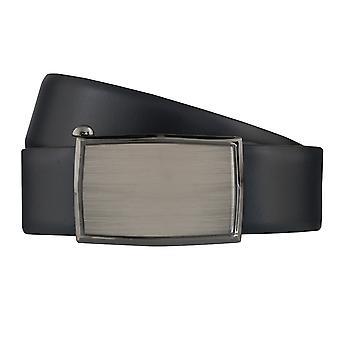 Correa de cuero cinturones de correa correas de hombres LLOYD Automatikschleße Blau 6388