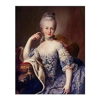 マリー ・ アントワ ネット ポスター印刷 (8 x 10) の肖像画