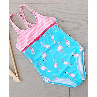 Big Fisch Girls Flamingo Swimsuit