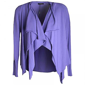Apanage Long Sleeve Drape Collar Knit Jacket