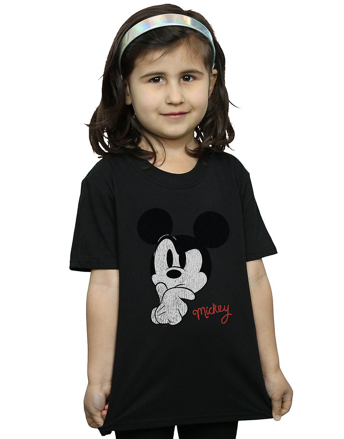 Disney Girls Mickey Mouse Distressed Ponder T-Shirt