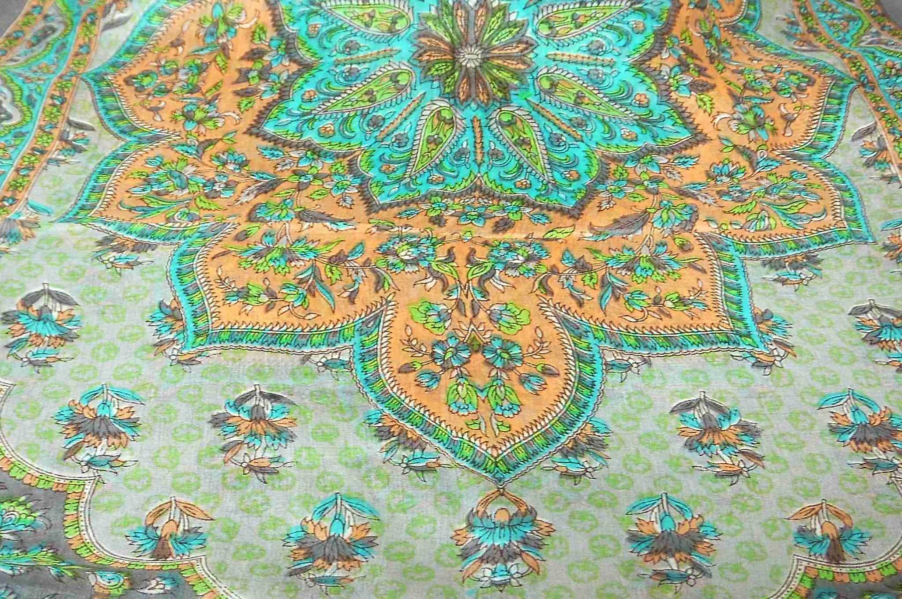 Mulberry Silk Traditional Long Scarf Kali Slate by Pashmina & Silk