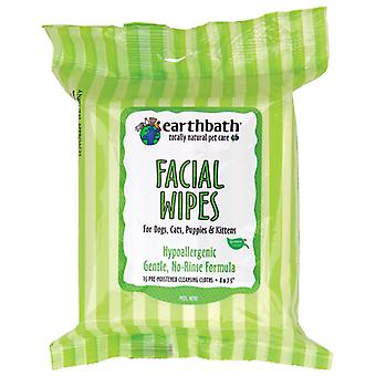 Earthbath Hypoallergenic Gentle Pet Facial Wipes - For Dogs & Cats, Pack 25