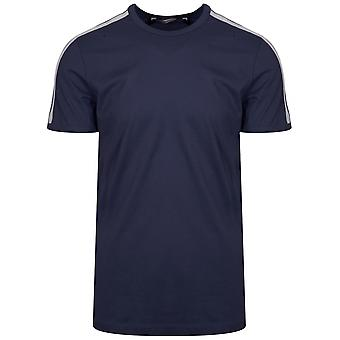 Antony Morato Sport Crew Neck Navy Shoulder Taped T-Shirt