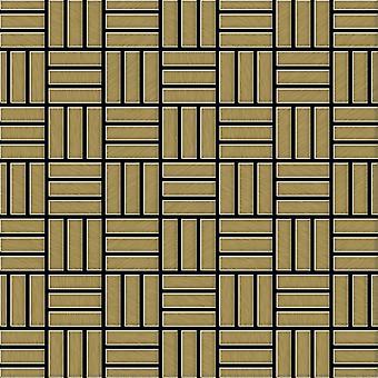 Metall mosaik TITANLEGERING Basketweave-Ti-GB