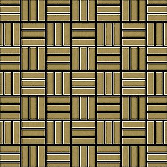 Metal mosaic Titanium ALLOY Basketweave-Ti-GB