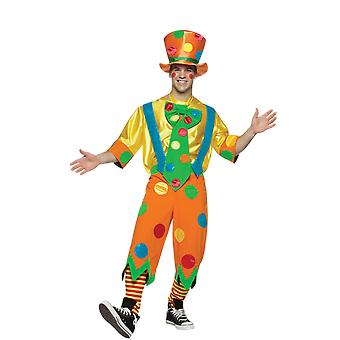 Mens Toots the Clown Circus Carnival Novelty Fancy Dress Costume