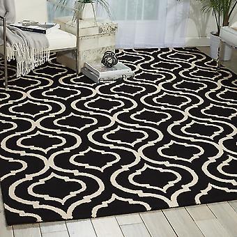 Lineaire LIN15 zwart witte rechthoek tapijten moderne tapijten
