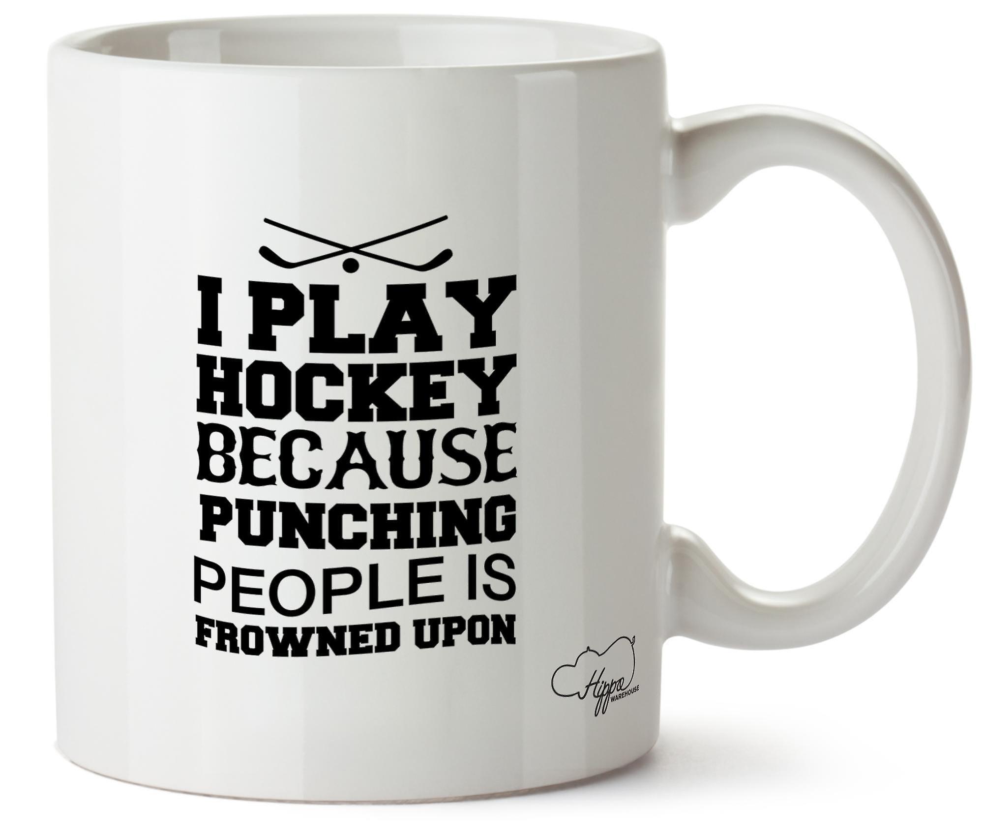 Hippowarehouse я хоккей играть, потому что пробивая людей является неодобрением 10 oz кружка Кубок