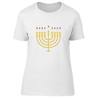 Menorah Hanukkah Candles Golden Tee Men's -Image by Shutterstock