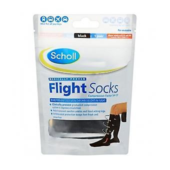 Scholl Flight Socks Cotton Feel 6.5-9 1 Pair