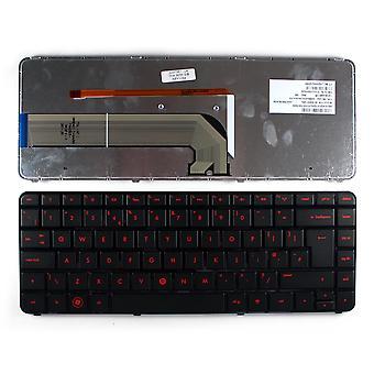 HP PAVILION DV4-4092la telaio nero lucido retroilluminato Nero UK Layout sostituzione tastiera portatile