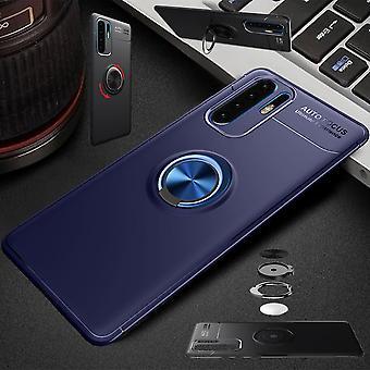 Für Huawei P30 Pro Magnet Metall Ring ultra dünn Case Blau Tasche Hülle Cover Etuis Schutz