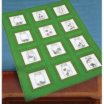 Jack Dempsey Themed Stamped White Quilt Blocks 9