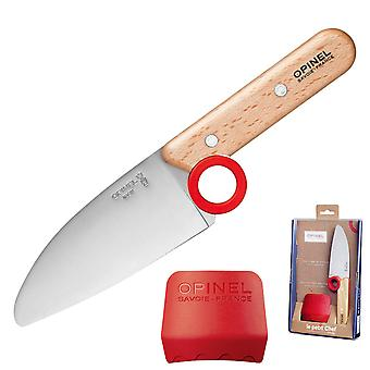 OPINEL Le Petit Chef kjøkkenkniv med avrundet tips og finger-vakt