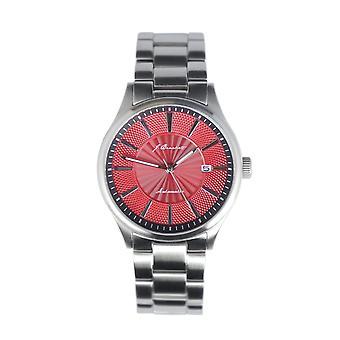 J. Brackett Navigli Bracelet Watch w/Date - Silver/Red