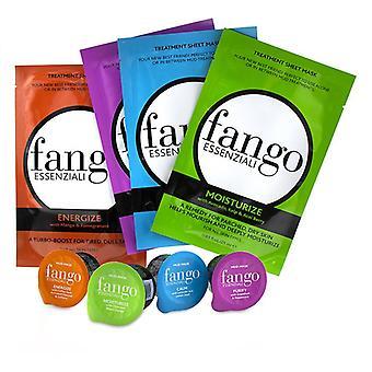 The Fango Essenziali Collection (4x Sheet Mask 25ml/0.83oz 4x Mud Mask 25g/0.89oz) - -