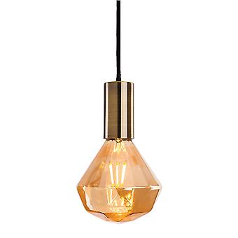 Erstlicht-1 Light Ceiling Pendant Antique Brass-4934