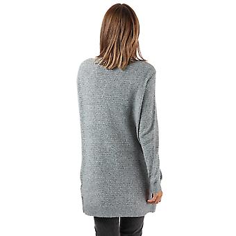 Womens Vero Moda Doffy Structure Long Sleeve Cardigan In Medium Grey Marl
