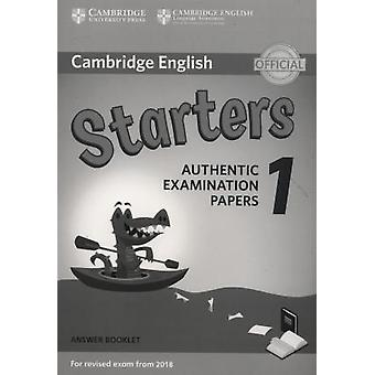 Cambridge English Starters 1 for Revised Exam from 2018 Answer Bookle