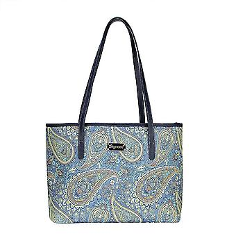 Paisley shoulder tote bag by signare tapestry / coll-pais