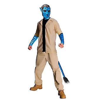 Avatar Jake Sully Costume And Mask - Extra Large Size