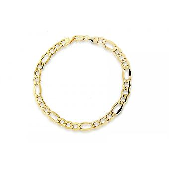 Evigheden 9ct guld damer 7 1/2 ' ' Figaro armbånd