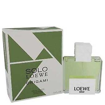 Solo Loewe Origami By Loewe Eau De Toilette Spray 3.4 Oz (men) V728-542023