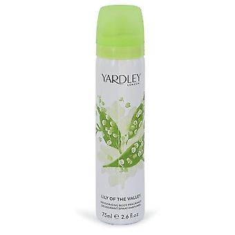 Lilia z doliny yardley spray ciała przez yardley london 490474 77 ml
