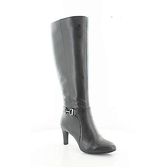 Alfani النساء بيري واسعة العجل جلد اللوز تو الركبة أحذية الأزياء الراقية