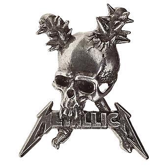 Logo du groupe Metallica revers Badge dommages Inc crâne nouvelle alchimie officiel argent