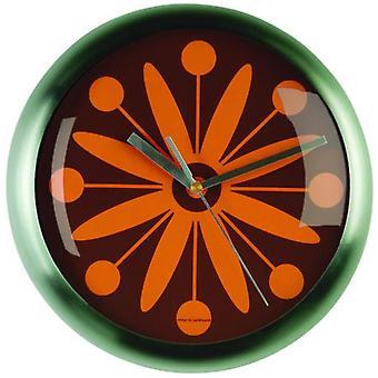 Wellindal Orange Flower Wall Clock (Decoration , Clocks)