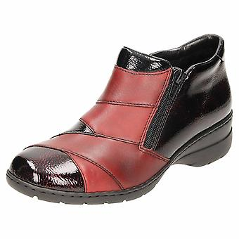 Rieker patente couro ankle boot sapatos L4373-35