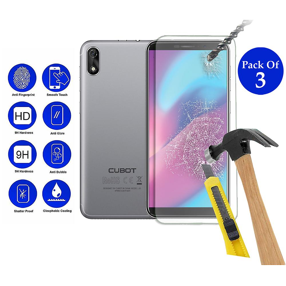 Pack of 3 Tempered Glass Screen Protection For Cubot J3 5