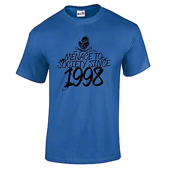 Men's 21st Birthday T-Shirt Menace Since 1998 Prezenty dla niego