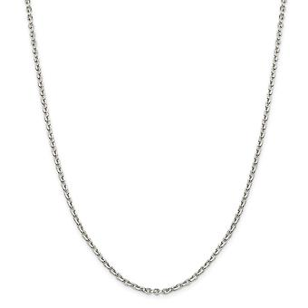 925 Sterling Silver 2.75mm Flat Cable Chain Necklace - Length: 16 to 24