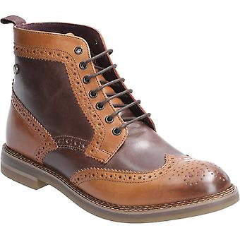 Base London Mens Banner Burnished Lace Up Brogue Boots