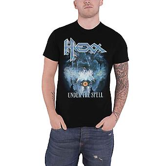 Hexx T Shirt Under The Spell Band Logo new Official Mens Black