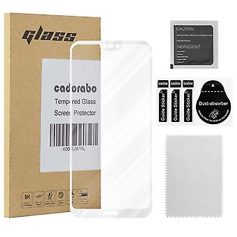 Cadorabo Full Screen Tank Film for Huawei P20 LITE - Tempered Display Protective Glass in 9H Hardness with 3D Touch Compatibility