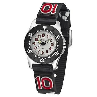JACQUES FAREL Kids Wristwatch Analog Quartz Boys Textile Ribbon KWD 5000 Football