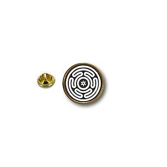 Pine Pines PIN rinta nappi PIN-apos; s metalli Broche Pentagram Wiccan lippu Hecate rengas rajat